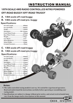 Redcat Racing Manuals