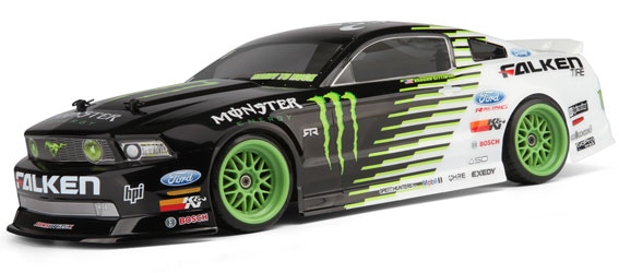 HPI Monster Energy/Falken Tire 2011 Ford Mustang E10 Drift RTR