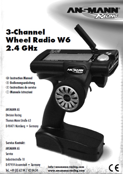 Ansmann Racing Radio Manuals