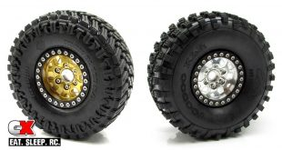 Gear Head RC 1.9 Tombstone Beadlock Wheels - Silver and Gold