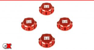 Tekno RC Red Anodized Captured Wheel Nuts | CompetitionX