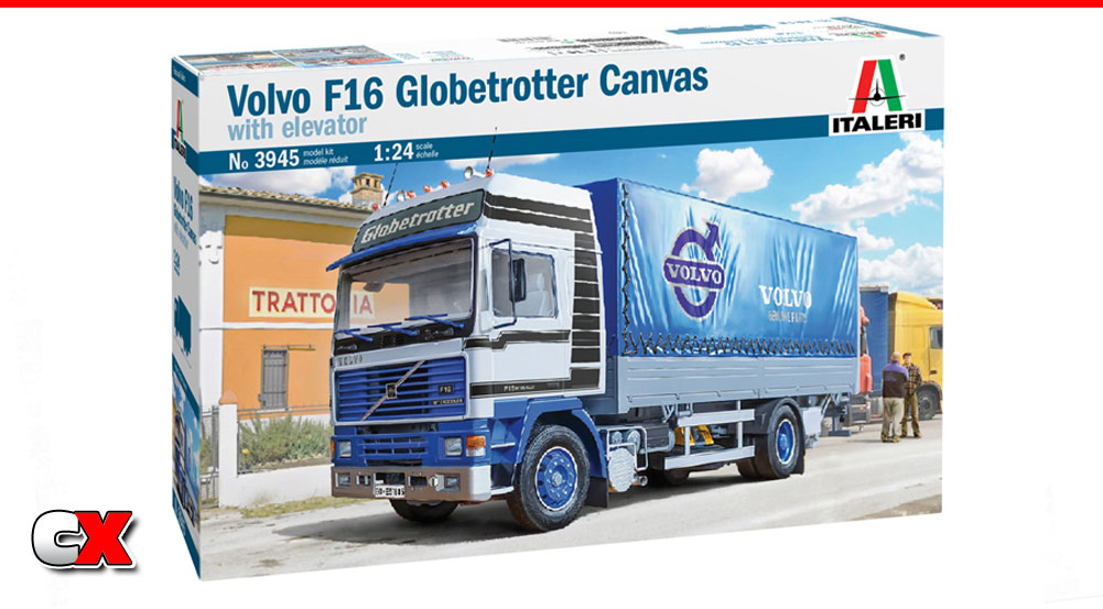 Italeri Volvo F16 Globetrotter Canvas Truck with Elevator Model Kit | CompetitionX