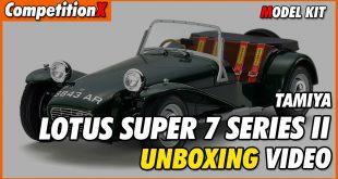 Video: Tamiya Lotus Super 7 Series II Model Kit Unboxing | CompetitionX