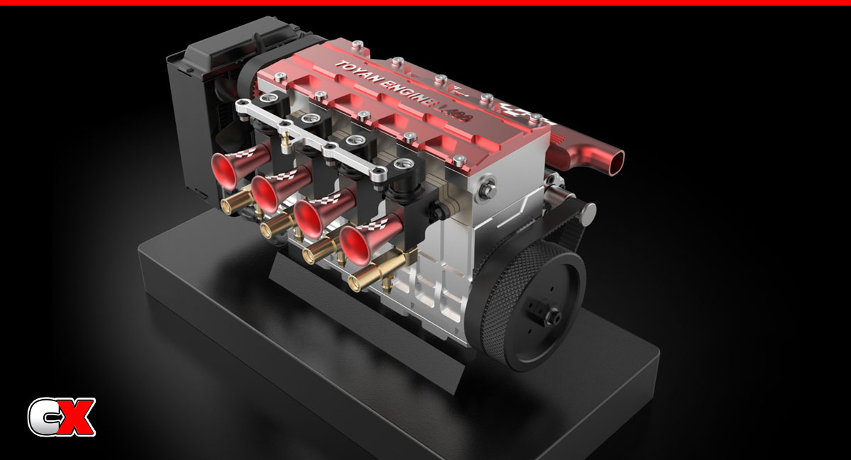 Toyan Four-Cylinder Four-Stroke Water-Cooled Nitro Engine   CompetitionX