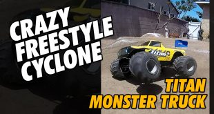 Video - RC Monster Jam - Titan Monster Truck Cyclone Freestyle #Shorts | CompetitionX