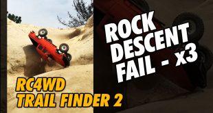 Video - RC4WD TrailFinder2 Rock Descent Fail Shorts   CompetitionX