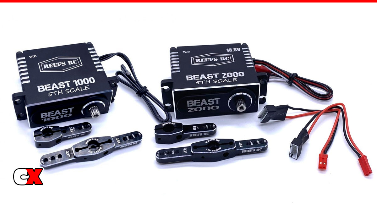 Reef's RC Beast 1000/Beast 2000 1/5 Scale Servos   CompetitionX