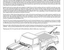 Carisma SCA-1E Coyote Kit Manual