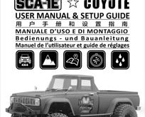 Carisma SCA-1E Coyote RTR Manual